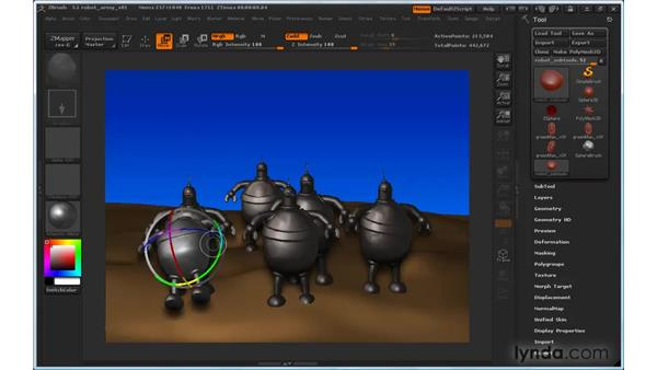 Can't move objects smoothly with the Gyro: ZBrush 3 for Windows Essential Training