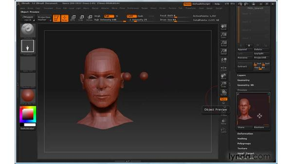Can't control the pivot of the model: ZBrush 3 for Windows Essential Training