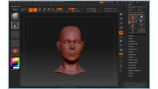 Can't maintain symmetry: ZBrush 3 for Windows Essential Training
