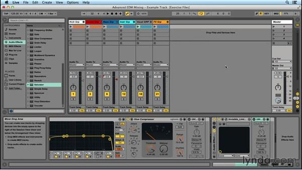 Organizing a mixdown: Advanced EDM Mixing Principles