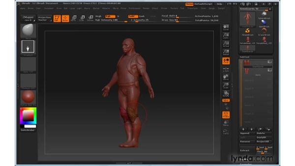 Can't control subtools : ZBrush 3 for Windows Essential Training