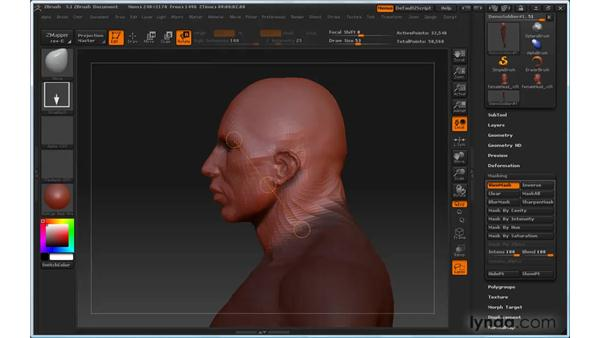 Can't rotate with Transpose without distorting the model: ZBrush 3 for Windows Essential Training
