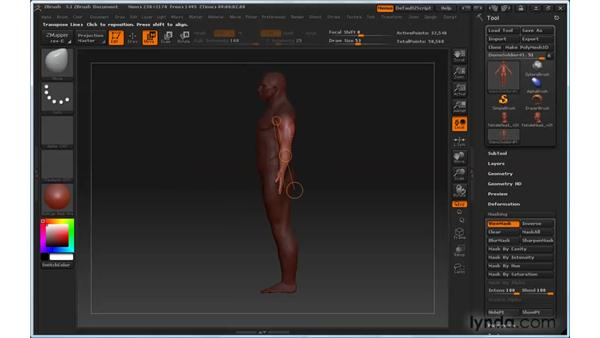 Can't get rid of blurriness on the mask: ZBrush 3 for Windows Essential Training