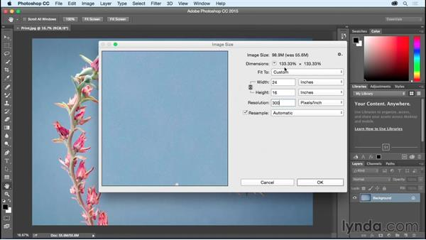 How large can I print my image?: Photoshop CC Essential Training (2015)