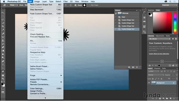 Using Undo and the History panel: Photoshop CC Essential Training (2015)