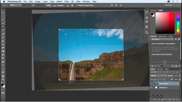 Using Crop options: Photoshop CC Essential Training (2015)