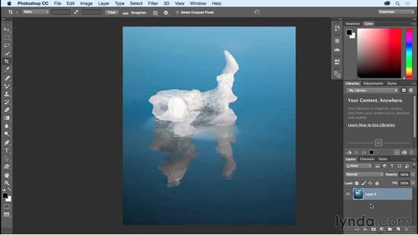 Understanding Hide vs. Delete for the Crop tool: Photoshop CC Essential Training (2015)