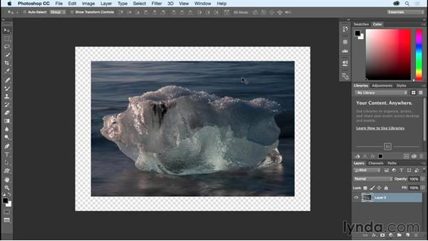 Making the canvas bigger using the Canvas Size command: Photoshop CC Essential Training (2015)