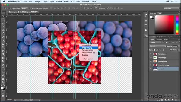 Loading, selecting, transforming, and aligning layers: Photoshop CC Essential Training (2015)