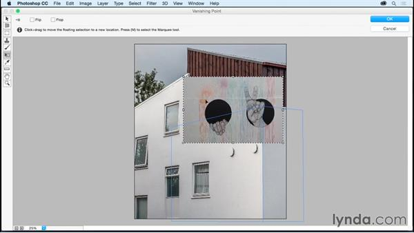 Using Vanishing Point to paste in perspective: Photoshop CC Essential Training (2015)