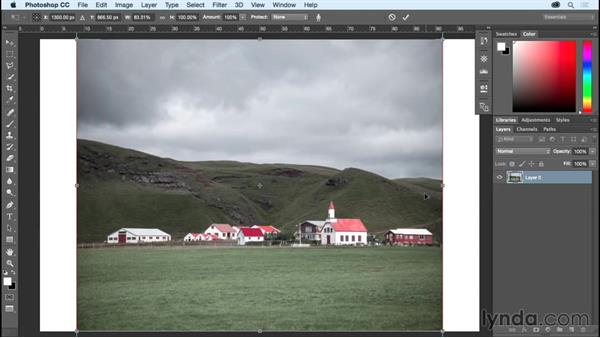 Preserving important elements with Content-Aware Scale: Photoshop CC Essential Training (2015)