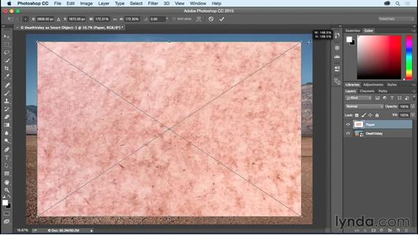 Opening raw images as Smart Objects: Photoshop CC Essential Training (2015)