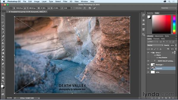 Replacing the contents of a smart object: Photoshop CC Essential Training (2015)