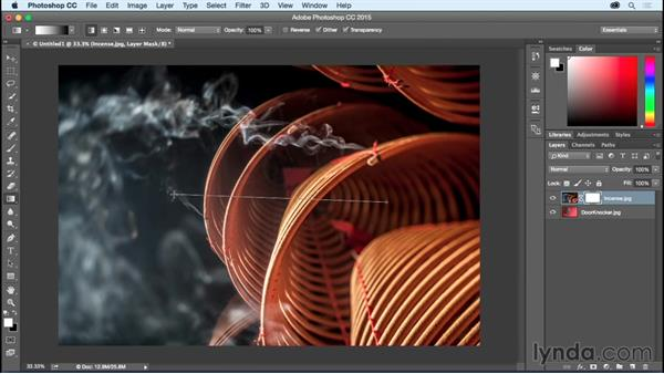 Blending two images together using Layer Masks: Photoshop CC Essential Training (2015)