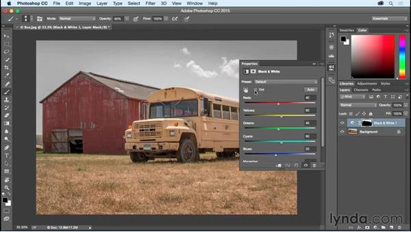 Making selections based on color: Photoshop CC Essential Training (2015)