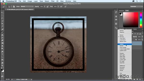 Getting to know the blend modes: Photoshop CC Essential Training (2015)