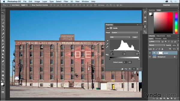 Refining dynamic range using Levels: Photoshop CC Essential Training (2015)