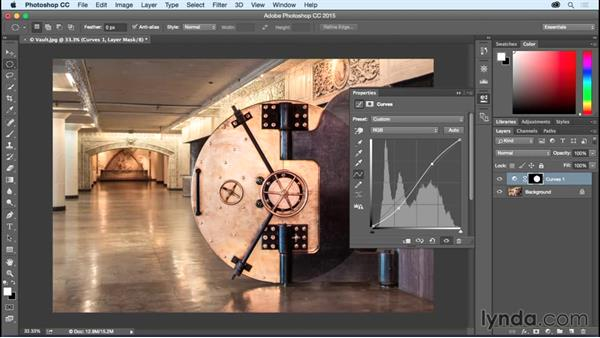 Adjusting local contrast with Curves: Photoshop CC Essential Training (2015)