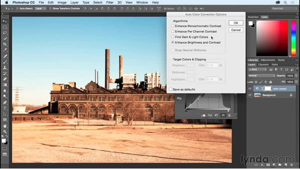 Removing a color cast with Auto Color: Photoshop CC Essential Training (2015)