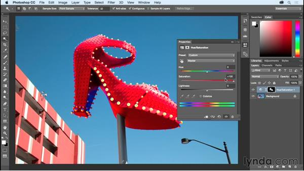 Making washed out colors pop with Vibrance: Photoshop CC Essential Training (2015)