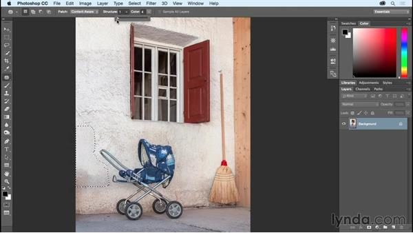 Removing unwanted details with Content-Aware Fill and Patch: Photoshop CC Essential Training (2015)