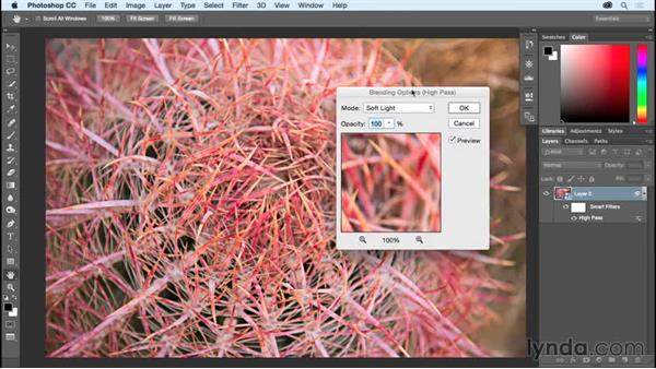 Sharpening an image with High Pass and Overlay: Photoshop CC Essential Training (2015)