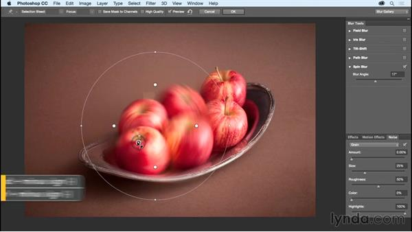 Adding motion effects to spinning objects: Photoshop CC Essential Training (2015)