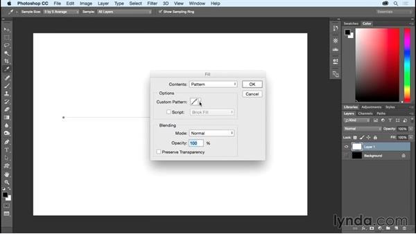 Placing a pattern along a path: Photoshop CC Essential Training (2015)