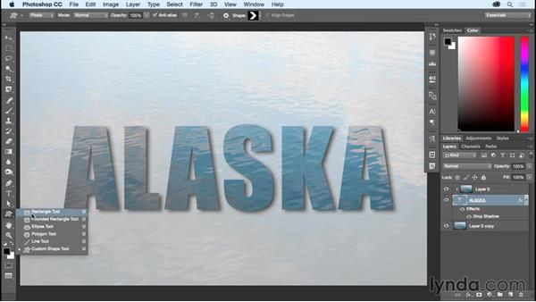 Clipping an image inside type: Photoshop CC Essential Training (2015)