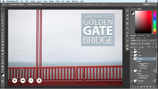 Applying multiple layer effects and styles: Photoshop CC Essential Training (2015)
