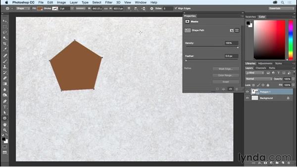 Using the Shape tools: Photoshop CC Essential Training (2015)