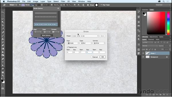 Adding strokes, fills, and effects to multiple shapes: Photoshop CC Essential Training (2015)