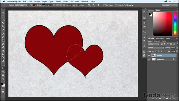 Modifying and combining shapes: Photoshop CC Essential Training (2015)