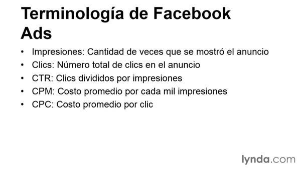 Terminología de Facebook Ads