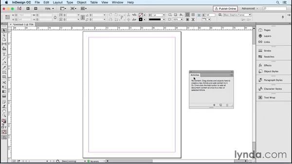 Creating an EPUB workspace: InDesign CC 2015: EPUB Fundamentals