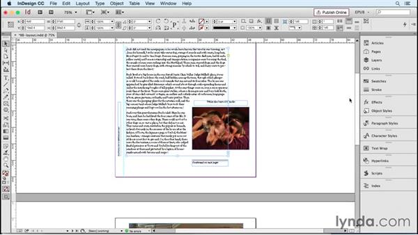 Managing the sequence of content: Layout order: InDesign CC 2015: EPUB Fundamentals