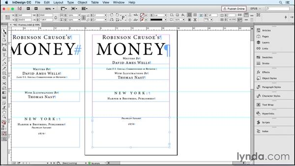 Maintaining text frame spacing: InDesign CC 2015: EPUB Fundamentals