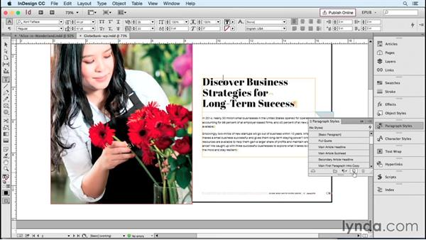 Mapping text styles to HTML and CSS tags: InDesign CC 2015: EPUB Fundamentals