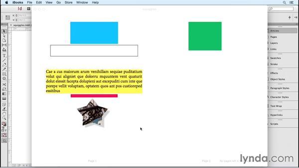 Converting InDesign artwork to images: InDesign CC 2015: EPUB Fundamentals