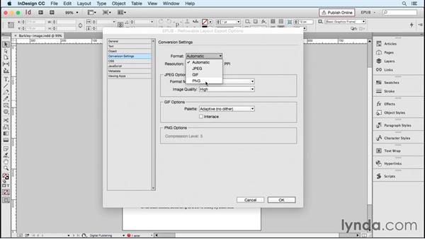 Specifying image resolution and appearance: InDesign CC 2015: EPUB Fundamentals