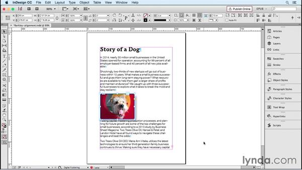 Setting image position controls: InDesign CC 2015: EPUB Fundamentals