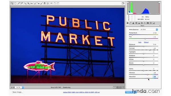 Opening images into Camera Raw: Photoshop CC 2015 for Photographers: Fundamentals