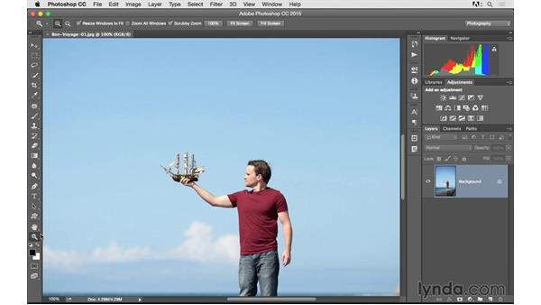 Quickly zoom and pan around a photograph: Photoshop CC 2015 for Photographers: Fundamentals