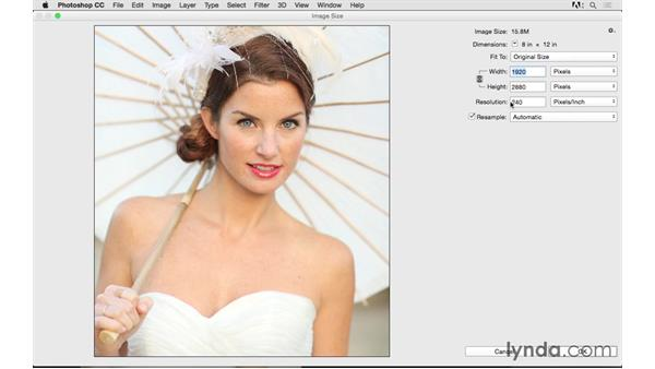 The relationship between pixels and image sizing: Photoshop CC 2015 for Photographers: Fundamentals
