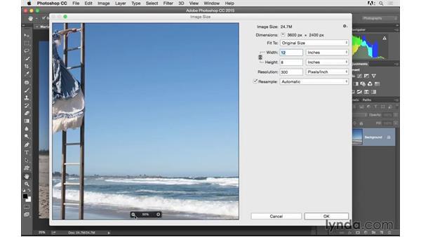 Using the resizing presets: Photoshop CC 2015 for Photographers: Fundamentals