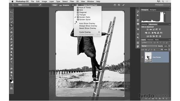 Mastering the Crop tool: Photoshop CC 2015 for Photographers: Fundamentals