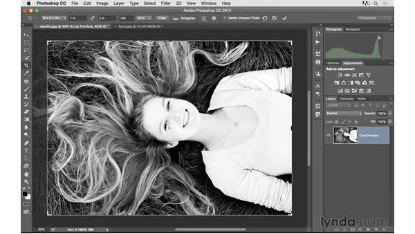 Cropping your images to a specific size: Photoshop CC 2015 for Photographers: Fundamentals