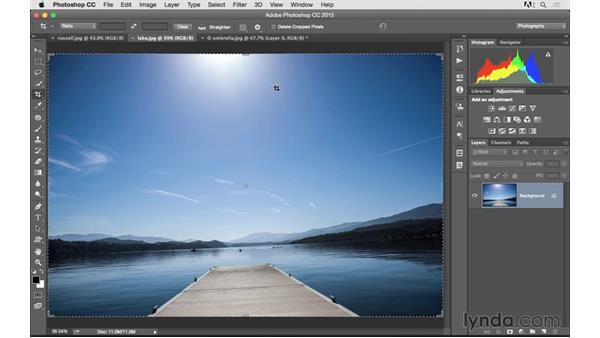 Fixing a crooked image: Photoshop CC 2015 for Photographers: Fundamentals