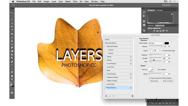 Applying layer style effects: Photoshop CC 2015 for Photographers: Fundamentals