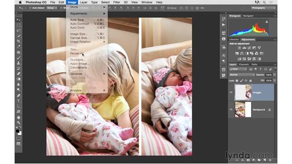 Combining multiple images into one document: Photoshop CC 2015 for Photographers: Fundamentals